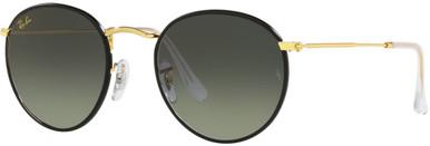 RB3447JM - Black on Legend Gold/Grey Gradient Glass Lenses