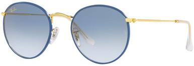 RB3447JM - Light Blue on Legend Gold/Clear Gradient Blue Lenses Alt Fit