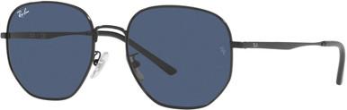 RB3682F - Black/Dark Blue Lenses