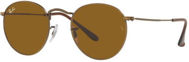 Round Metal RB3447 - Antique Gold/Brown Glass Lenses 50 Eye Size