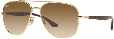 Arista/Clear Gradient Brown Glass Lenses