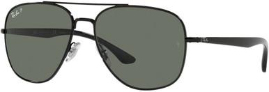 Black/Green Polarised Glass Lenses
