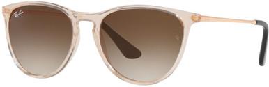 Transparent Light Brown/Brown Gradient Lenses