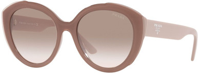 PR01YSF - Alabaster Pink/Clear and Gradient Brown Lenses