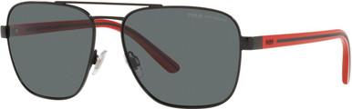 PH3138 - Semishiny Black/Dark Grey Polarised Lenses