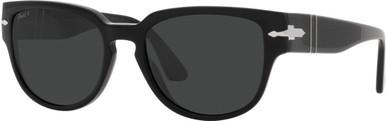 PO3231S - Black/Black Polarised Glass Lenses