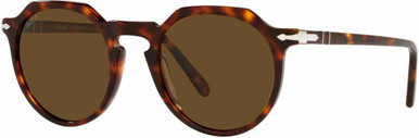 PO3281S - Havana/Brown Glass Polarised Lenses 52 Eye Size