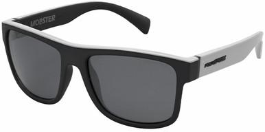 Mobster - White Grey/Smoke Polarised Lenses