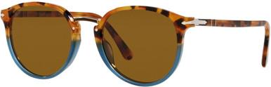 PO3210S - Brown Tortoise Opal Blue/Brown Lenses 51 Eye Size