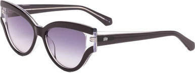 Allnighter - Black and Clear/Grey Blue Gradient Lenses