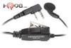Kenwood Model KHS26, In-Line Push and Talk Switch & Mic Earbud rests comfortably in either ear.  A perfect fit.