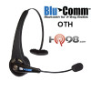 The BluComm Over The Head bluetooth headset has Talk Time Up to 8 hours and Standby time Up to 200 hours.