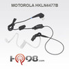 This HKLN4601 single-wire earpiece with a combined microphone and push-to-talk offers transmit and receive capabilities and includes a clear acoustic tube and rubber eartip for comfort in extended wear.