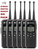 The DTR 550 will store up to 150 contacts (Maximum 20 public groups / 10 private groups). The coverage is up to 350, 000 square feet (30 floors) with long whip antenna.