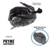 SPM2100 Rubber sealed housing for heavy-duty use in wet environments, Professional quality, water-resistant, Large PTT design, High output speaker, Metal reinforced swivel dlip, Heavy duty colled cable, 3.5mm accessory jack