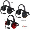 TITAN OEM Extreme High Noise Cancelling Headset. Dual-Muff High-Noise headset with PTT. Colors: Black, Carbon Fiber and Red