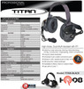 OEM Titan Professional Grade - OEM High-Noise, Dual-Muff Headset with PTT. Extreme noise reducing -Racing, Manufacturing, Oil Rig, Construction, Engineering, OSHA Compliance