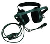 Kenwood KHS-10BH Heavy-duty dual earmuff headset with Noise reduction. Behind-the-head design. Noise canceling boom mic and In-line PTT.