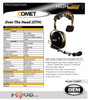 COMET Single Muff, noise reduction headset with PTT. Built tough for high-noise conditions such as Athletics, Warehouse, Events & Construction.