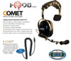 COMET™ High Noise Headset - Single Muff design by Klein Electronics.  Built-in PTT and boom microphone.