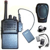 BluComm Bluetooth dongle adapter mounted to a Vertex Standard two way radio. This adapter comes in single pin, dual pin and multi-pin models. Please see chart for more models like Kenwood and Motorola. The BLUComm Wireless Bluetooth Speaker Mic Badge allows you to use to connect wirelessly with your two-way radio. (Radio NOT Included)
