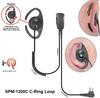 DEFENDER SPM-1200C Series - Medium Duty Lapel Microphone: Lapel Microphone with C-loop style earphone by PRYME RADIOS - Free Shipping