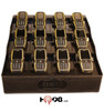 FuelPad12 12-Unit Battery Charger with Charger Plugs - Desktop Organizer Station.  Includes 12 pieces of the WALL-USB charging plugs for use when standard cell phone charging plugs do not fit the Fuelpad-12 power strip spacing.
