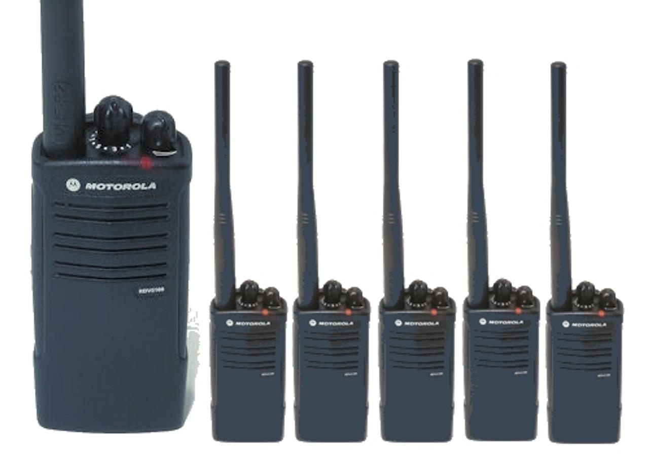 Motorola RDU4100 Six Pack of UHF 4W 10CH 2-Way Radios