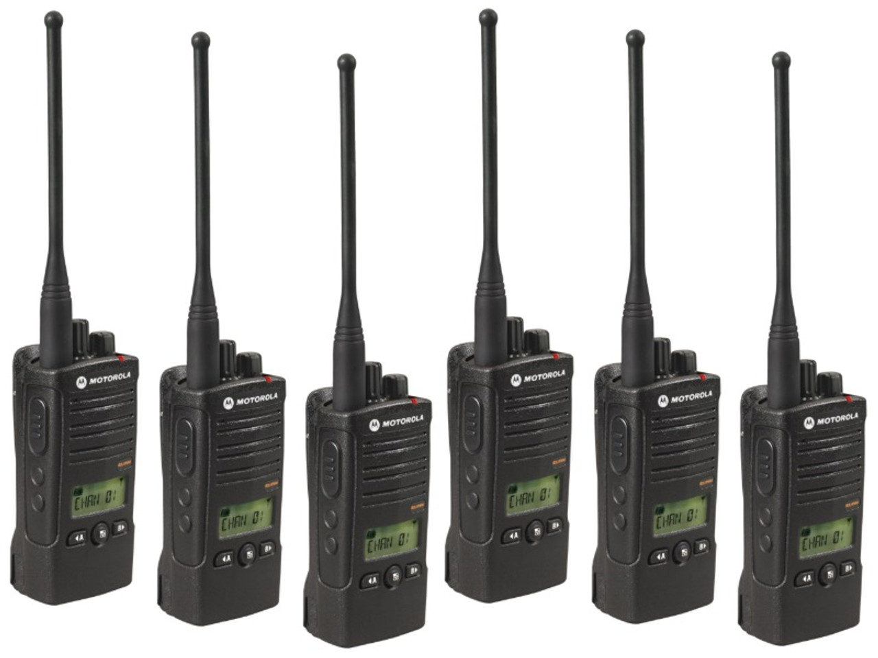 Motorola RDU4160D Six Pack of 4 Watt 16 Channel UHF Radios