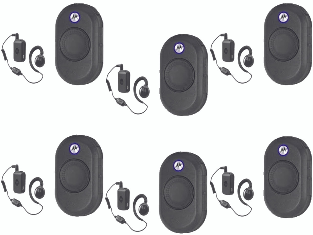 Motorola Six Pack Of Clp 1060 Bluetooth Two Way Radio Uhf 1 Watt With Free Wireless Headset Included
