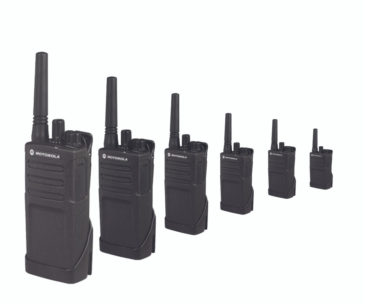 Motorola RMU2040 Six Pack of 2-Way 4CH 2W UHF Business Radio
