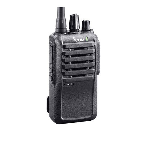 Icom F4001 comes with a Ni-MH battery pack rated at 14 hours of use. The radio also comes with a belt clip, removable antenna, and charger.
