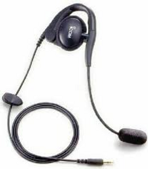 ICOM HS-94 headset has a single over the ear style earpiece and a small, flexible boom mic makes this a great buy for the price.