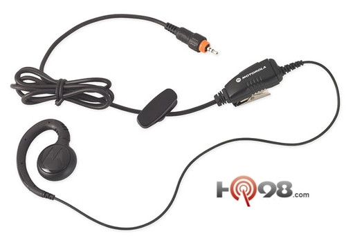 Motorola CLP over the ear piece that is comfortable for extended wear, this compact and durable accessory allows users to receive communication discreetly. Includes an easy-to-access inline push-to-talk for convenient communication.