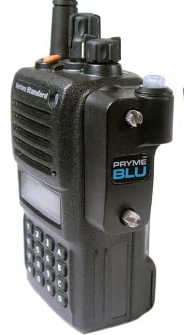 PrymeBlu BT 532 works with Vertex VX-820, VX-821, VX-824, VX-829, VX-871, VX-874, VX-879, VX-920, VX-921, VX-924, VX-929, VX-971, VX-974, VX-979, VX-P820, VX-P920 radios.