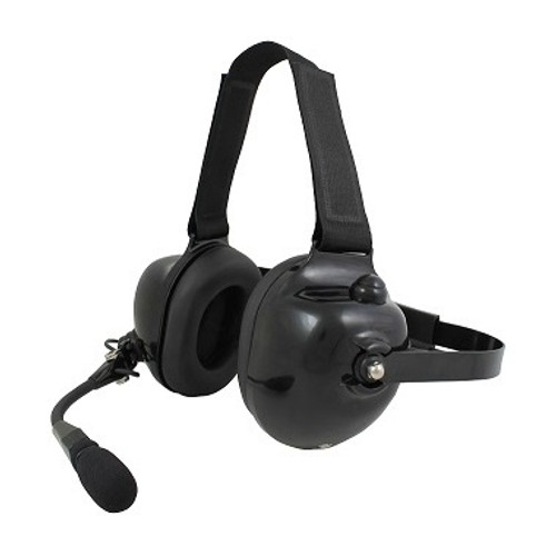 The Pryme HDS-EM is a professional grade dual-muff headset perfect for racing intercom, avionics and industrial use. The rubber-covered, behind-the-head band and adjustable Velcro head strap are comfortable and keep the headset in place.