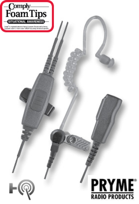 SPM-2000 2-WIRE SURVEILLANCE KIT - Fits most Cobra, ICOM, Kenwood, MAXON, Midland, and Motorola radios that have either a single or double-pin connector.