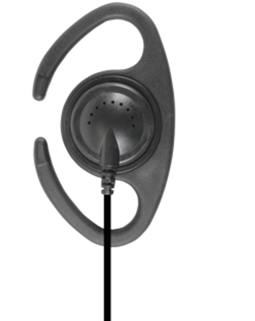The SPM 1200C has a large, metal clip secures the mic/PTT element to the user's lapel or collar. Plus it has a conveniently located PTT button for easy use.