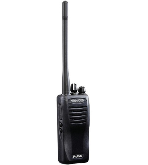 Kenwood TK3400U16P two way radio, drop-in fast charger, and 22 hour lithium rechargeable battery is great for toughest job.