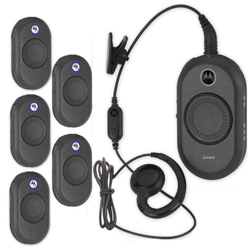 This Six Pack of Motorola CLP 1010 radio makes communicating a breeze in noisy environments – whether your teams are connecting in a busy restaurant, hotel or retail store. Headset Included.