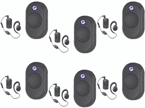 The CLP1060 ships with a Motorola Bluetooth Wireless Earpiece, a portable and convenient earpiece for two-way radio communications. Get your Six Pack today!