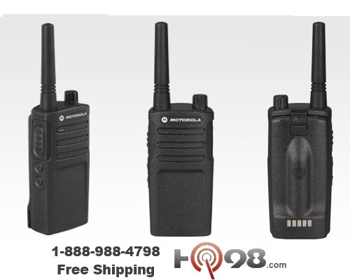 The RM 2040 radio ship standard with a carry holster with a swivel belt clip that lets you rotate the radio to fit comfortably. This model also uses the same audio accessories as the RDU series for flexible and dependable performance.