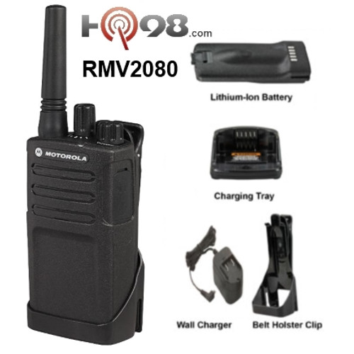 RMV2080 by Motorola meets Military Standard 810 C, D, E, F and G plus IP54/55 and these radios undergo Motorola's unique Accelerated Life Testing (ALT). This rigorous laboratory testing simulates up to 5 years of field use.