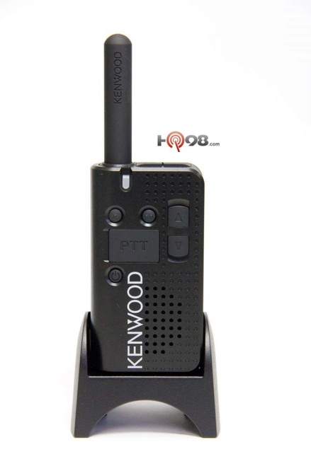 Kenwood PKT-23 UHF FM two-way radio provides 1.5 watt transmit power, 4 channels, and up to 15 hours of operation all in a 3.9 oz package.