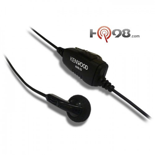 Earbud Headset with in-line PTT Microphone. For PKT-23 Kenwood Protalk radio only. Single Pin Connector.