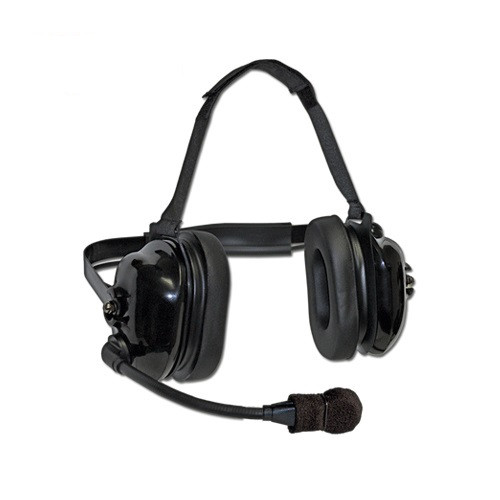 TITAN™ FLEXBOOM HEADSET - BLACK Titan™ FlexBoom Headset Extreme High-Noise, Dual-Muff Headset with FlexBoom Microphone and Black earshell.  Extreme noise reducing -Racing, Manufacturing, Oil Rig, Construction, Engineering, OSHA Compliance.