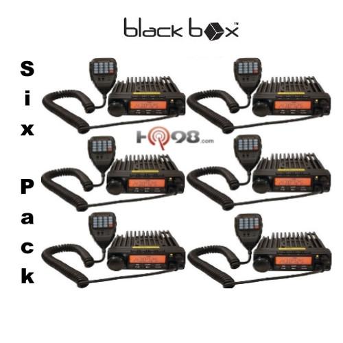 The Six Pack BlackBox Mobile VHF Radio. 16 channel VHF 55 watt two way business radios have free shipping.