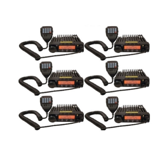 The Six Pack BlackBox Mobile VHF Radio. 16 channel VHF 55 watt two way business radios have free shipping.