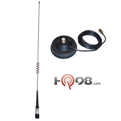 The Blackbox UHF Mobile Radio Antenna, Magnet Base and connecting cable.