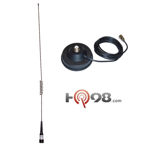The Blackbox VHF Mobile Radio Antenna and Magnetic Base.  Cable Included.
